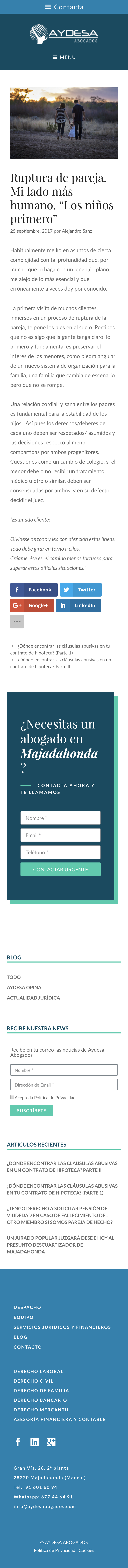 Diseño Web wordpress despacho abogados