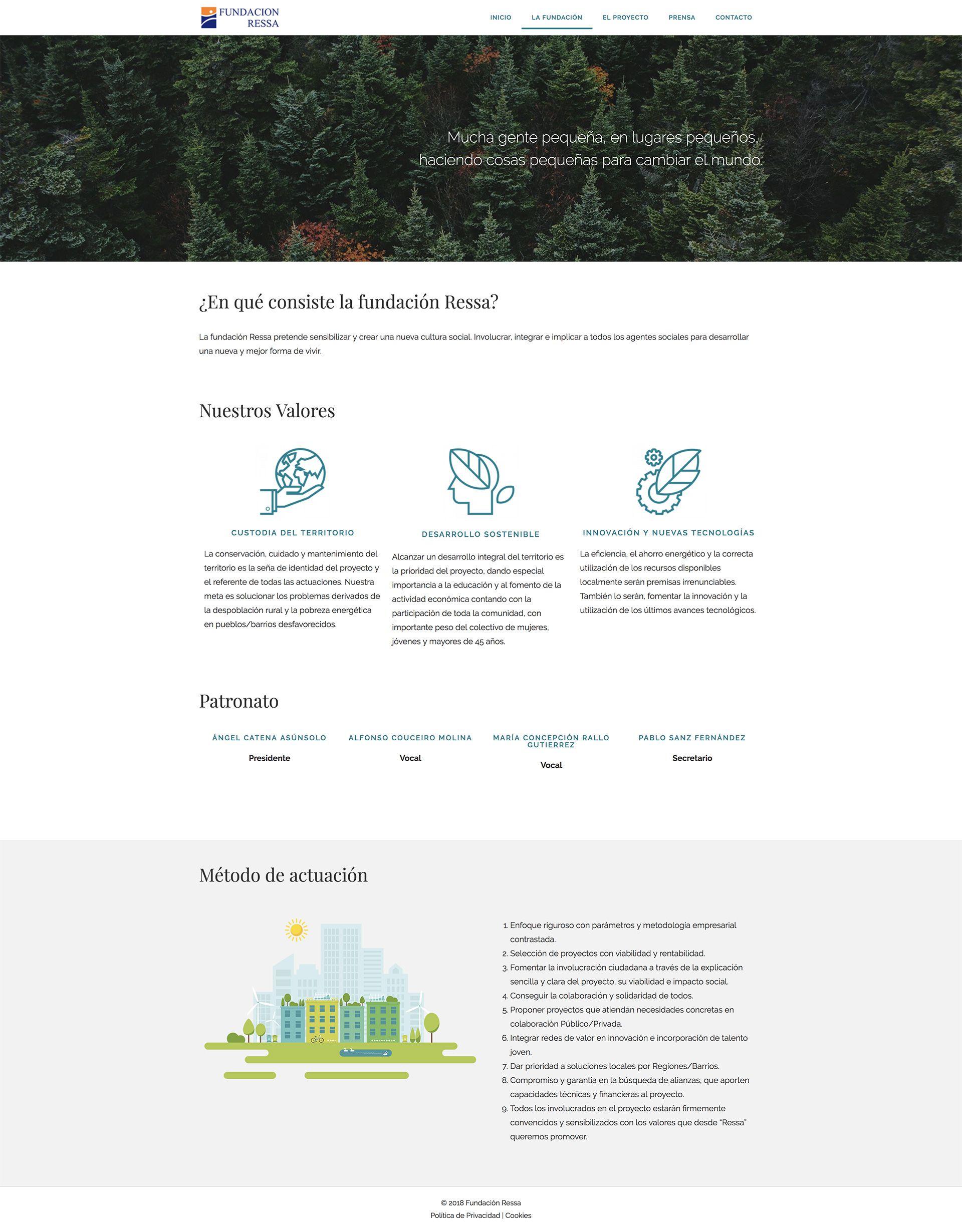 Diseño web para Fundaciones